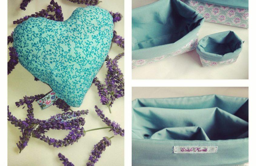 Lavendelherz im Korb