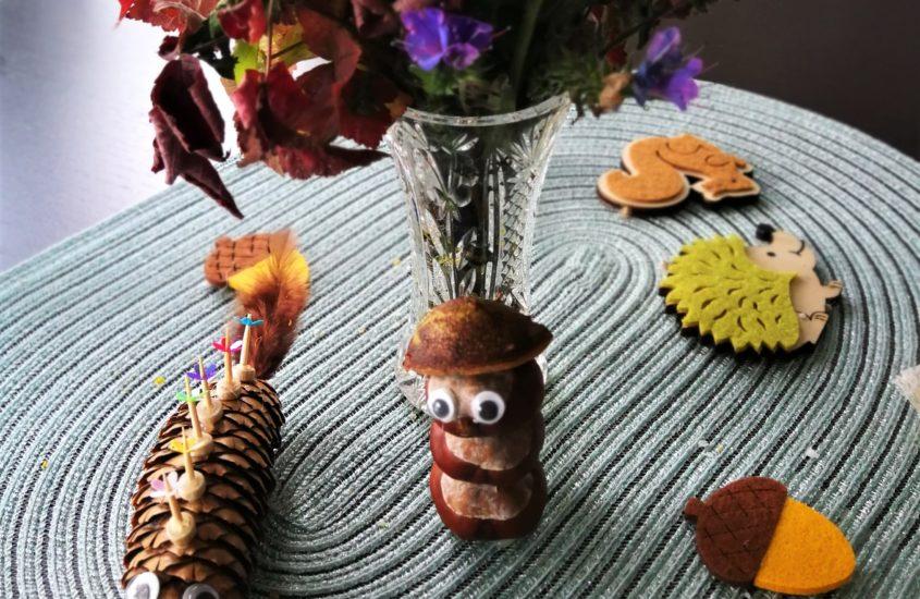 Kastanienmann und Zapfenwurm